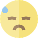 worried, emoticons, Emoji, feelings, Smileys Khaki icon