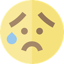 emoticons, Emoji, feelings, Smileys, worried Khaki icon