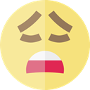 emoticons, Yawn, Emoji, feelings, Smileys, Yawning Khaki icon