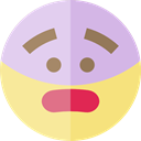 emoticons, Emoji, feelings, Smileys, surprised Khaki icon