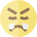 emoticons, Emoji, feelings, Smileys, Angry Icon
