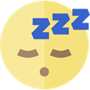 emoticons, Emoji, feelings, Smileys, sleep Khaki icon