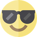 cool, emoticons, Emoji, feelings, Smileys Khaki icon