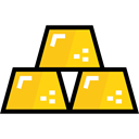gold, Business, Bank, Ingot, luxury, Gold Ingots, Business And Finance Gold icon
