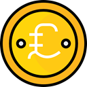 Currency, banking, Pound Sterling, Business, Money, Cash, pound, Business And Finance, Commerce And Shopping Gold icon