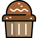 food, cupcake, muffin, Dessert, sweet, Bakery, baked, Food And Restaurant Black icon