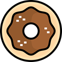food, sugar, Dessert, sweet, doughnut, Food And Restaurant Sienna icon