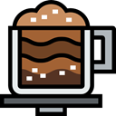 Coffee, food, coffee cup, hot drink, Coffee Shop, Mocha, Food And Restaurant Black icon