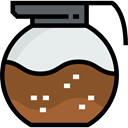 Coffee Pot, Food And Restaurant, food, Cafe, hot drink, Coffee Shop, tea Sienna icon