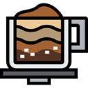 Coffee, food, coffee cup, hot drink, cappuccino, Coffee Shop, Food And Restaurant Icon