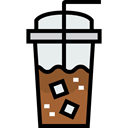 Cold Drink, Coffee Shop, Iced Coffee, Food And Restaurant, food, glass Black icon