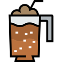 frappe, Coffee Shop, Food And Restaurant, food, glass, Cold Black icon