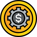 Tools And Utensils, Seo And Web, settings, setup, management, Options, cogwheel, Cogwheels, Gear Gold icon