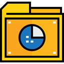 file storage, Data Storage, Office Material, Folder, interface, storage, Files And Folders Orange icon