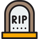 cross, Dead, halloween, horror, scary, coffin WhiteSmoke icon