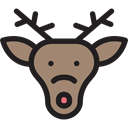 reindeer, elk, christmas, Animals, xmas, Moose Black icon