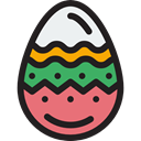 food, egg, decoration, easter, Ornamental, Easter Egg Black icon