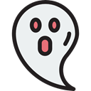Ghost, halloween, horror, Terror, spooky, scary, fear WhiteSmoke icon
