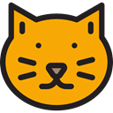 Feline, Superstition, Cat, halloween, Animals, mammal Orange icon