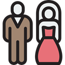 Man, woman, Marry, Couple, wedding, Bride, groom Black icon