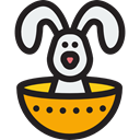 easter, mammal, wildlife, Easter Bunny, Character, Bunny, Animals, rabbit Black icon