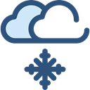 snowing, Moon, weather, Snow, nature, winter, Cold, snowy, Frost DarkSlateBlue icon