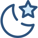 star, Moon, night, nature, landscape DarkSlateBlue icon