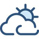 Cloudy, nature, sky, meteorology, Cloud, weather Black icon