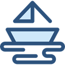 Boat, transport, sailing boat, Yacht, sailing, nature DarkSlateBlue icon