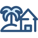 Home, house, nature, Construction, buildings, Beach, property, real estate, residential DarkSlateBlue icon