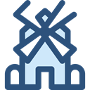 nature, technology, Windmill, mill, ecology, Ecological, Ecologic, Windmills, Eolian DarkSlateBlue icon