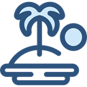 nature, Oasis, Island, Desert, tropical, Palm Tree DarkSlateBlue icon