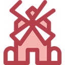 Eolian, ecology, Ecological, Ecologic, Windmills, nature, technology, Windmill, mill Sienna icon