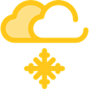 winter, Cold, snowy, Frost, snowing, Moon, weather, Snow, nature Gold icon
