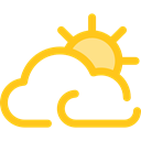 Cloud, weather, Cloudy, nature, sky, meteorology Black icon