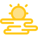 sun, weather, sunset, nature, sea, landscape, Dusk Gold icon