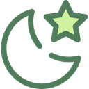 star, Moon, night, nature, landscape DimGray icon