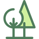 Forest, woods, trees, nature, landscape DimGray icon