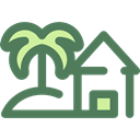 Construction, buildings, Beach, property, real estate, residential, Home, house, nature DimGray icon