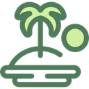 tropical, Palm Tree, nature, Oasis, Island, Desert DimGray icon