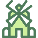 Windmills, Eolian, nature, technology, Windmill, mill, ecology, Ecological, Ecologic DimGray icon
