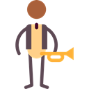 jazz, musical, Genres, Subculture, music, Man, Movement Black icon