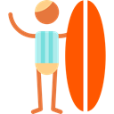 music, Man, Movement, musical, surf, Genres, Subculture OrangeRed icon