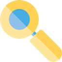 Seo And Web, search, magnifying glass, zoom, detective, Loupe, Tools And Utensils Black icon