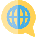 global, planet, Multimedia, translation, languages, Earth Grid, Worlwide, World Grid, Seo And Web SandyBrown icon
