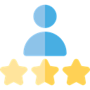 Stars, people, Customer, rate, testimonial, stick man, Seo And Web Black icon