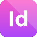 adobe, indesign icon, Format, Extension MediumOrchid icon
