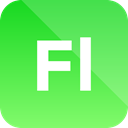 Extension, adobe, flash professional, format icon LimeGreen icon