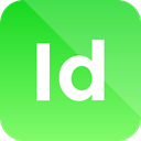 Format, Extension, adobe, indesign icon LimeGreen icon