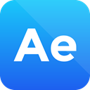 after effects, format icon, Extension, adobe DodgerBlue icon